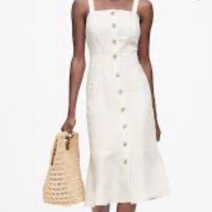 Banana Republic Ivory Button Front Dress
